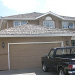 Colour matching stucco painting Calgary