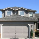 Grey Stucco Painting on house